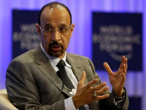 Khalid al-Falih, Saudi Energy Minister, attends a session at the annual meeting of the World Economic Forum in Davos January 23, 2014. — Reuters pic