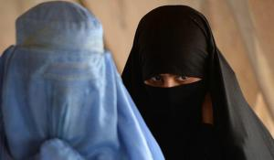Afghan women in a Kabul refugee camp, June 2013. AFP, Getty Images