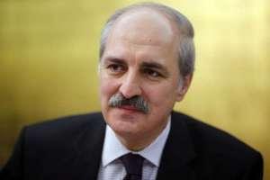 Numan Kurtulmus talks to foreign media in Ankara.