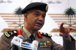Saudi interior ministry spokesman Major General Mansur al-Turki (A