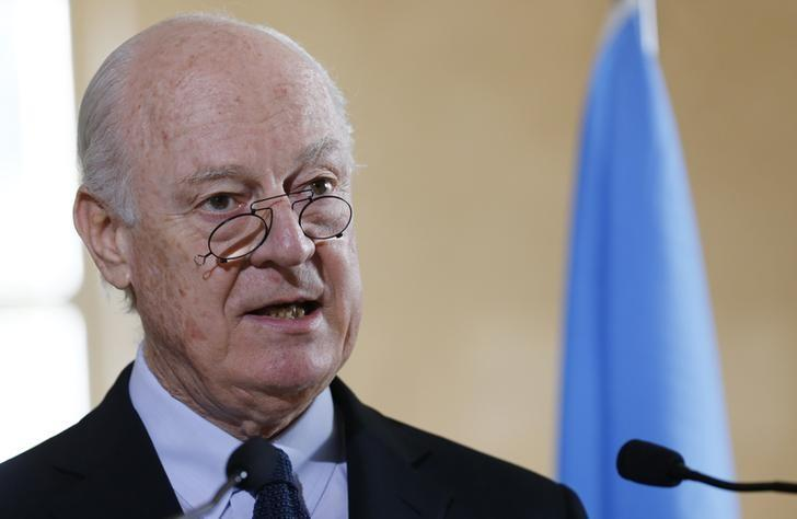 U.N. Envoy Staffan de Mistura Not Expecting Quick Breakthrough in Syria Peace Talks