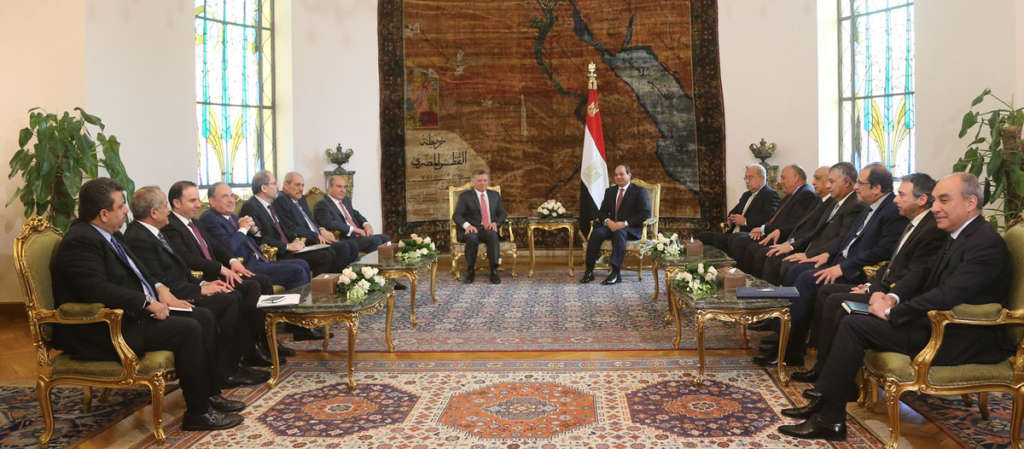 Sisi, Abdullah II: Two-State Solution a National Principle