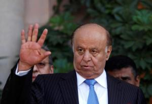 Yemen's President Abd-Rabbu Mansour Hadi gestures during a news conference in Sanaa in this November 19, 2012 file photograph. REUTERS/Khaled Abdullah/Files