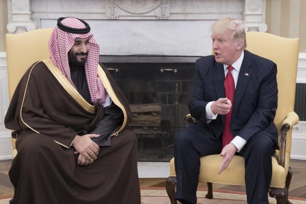 Saudi Deputy Crown Prince Meets US President Trump