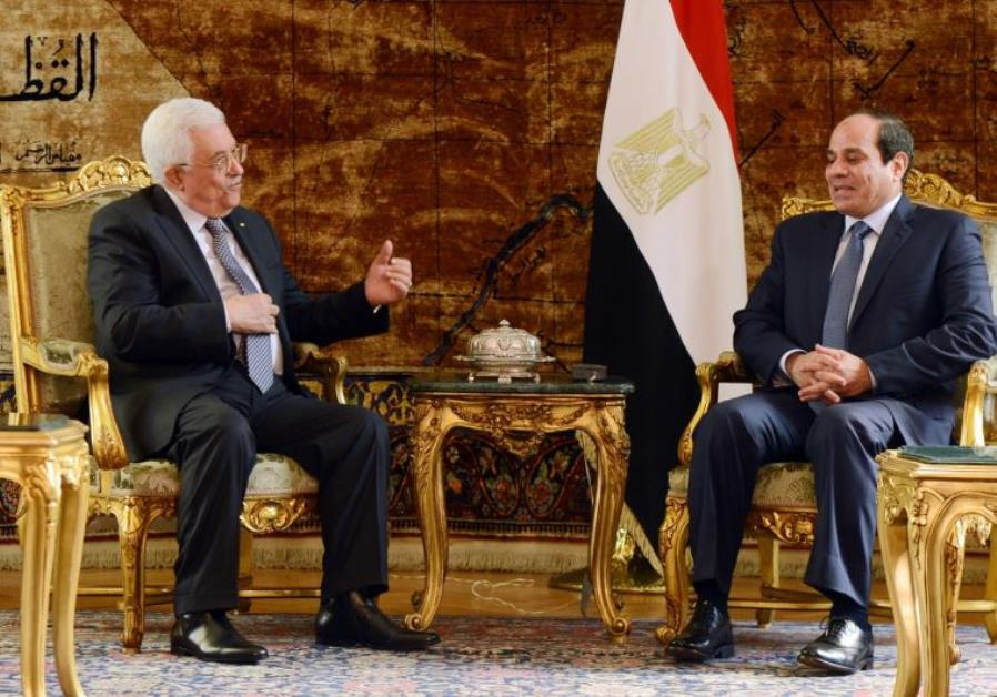 El-Sisi Vows to Abbas to Address Palestinian State Issue with Trump