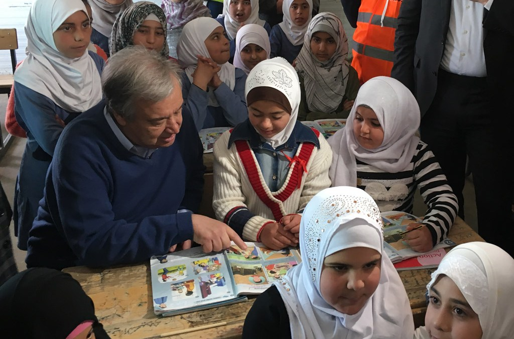 UN Chief Visits Jordan's Zaatari Refugee Camp