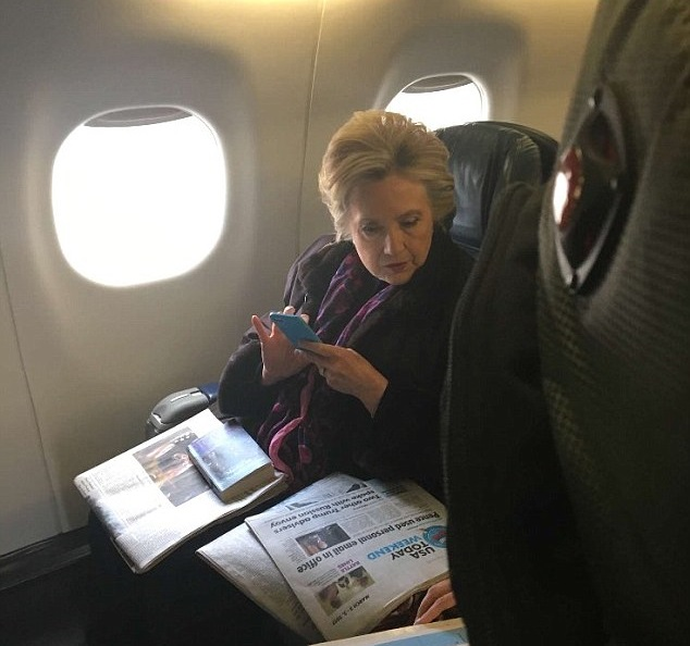 Snap of Clinton Reading Pence Personal Email Headline Goes Viral