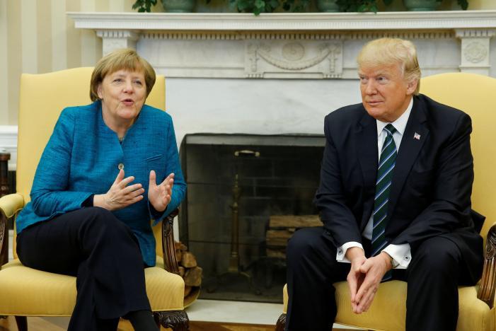Trump, Germany's Merkel Meet in Oval Office