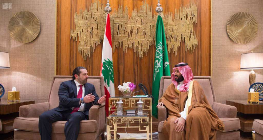 Saudi Deputy Crown Prince Meets with Lebanese PM
