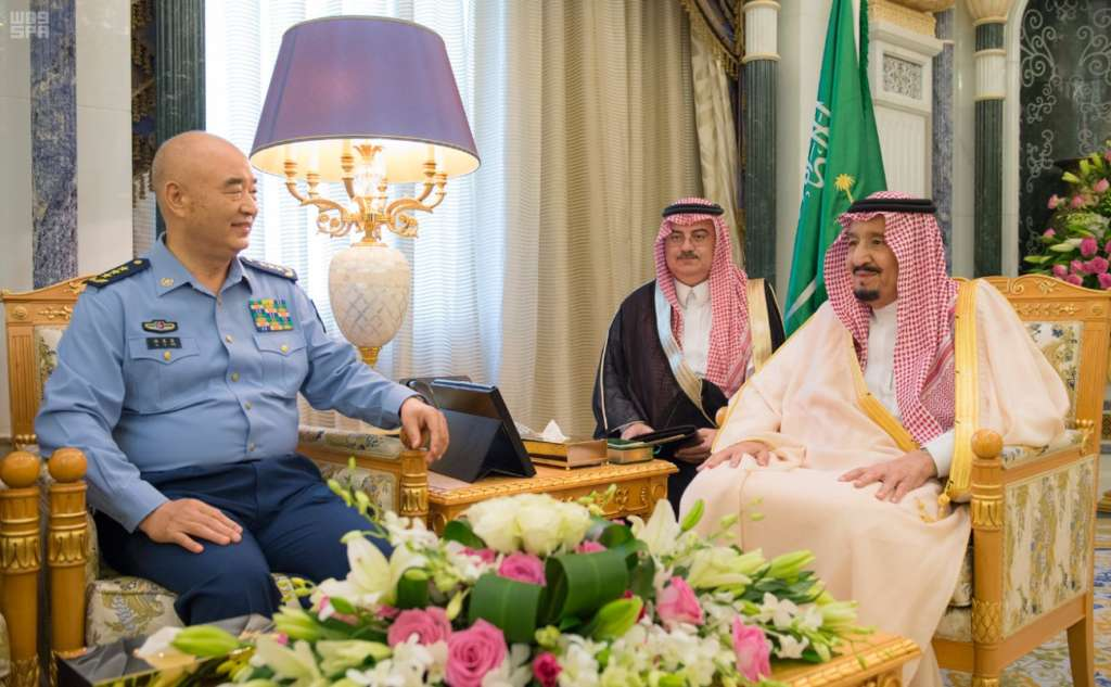 Saudi King Meets China's Vice-Chairman of Central Military Commission