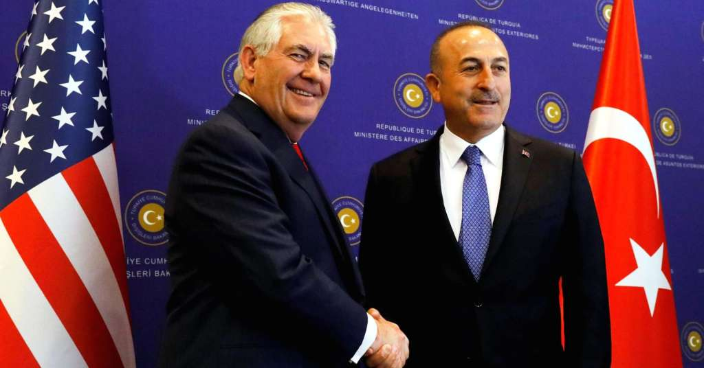 "Tillerson Discusses in Ankara Choice of Syria ""Safe Zones"""