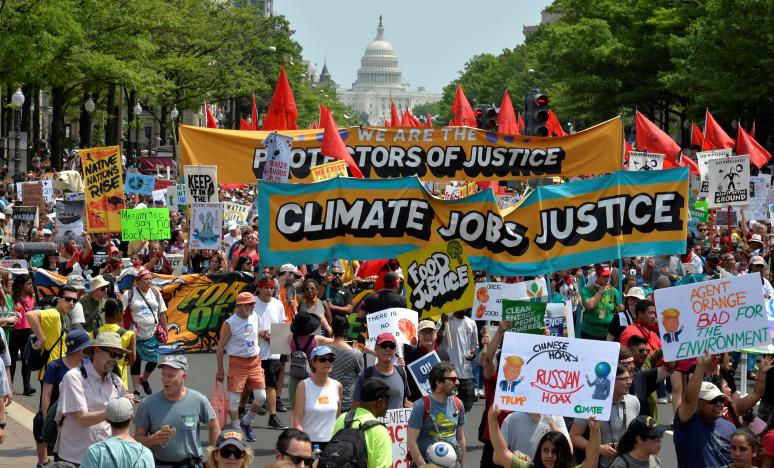 Thousands Protest Trump's Environment Policies