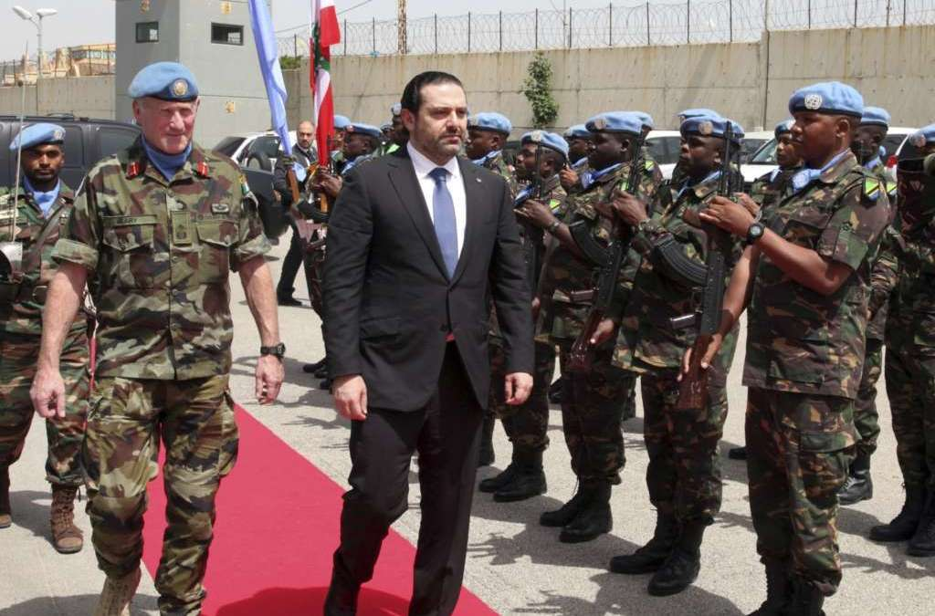 Hariri at Southern Border: Not Concerned by 'Hezbollah' Parade