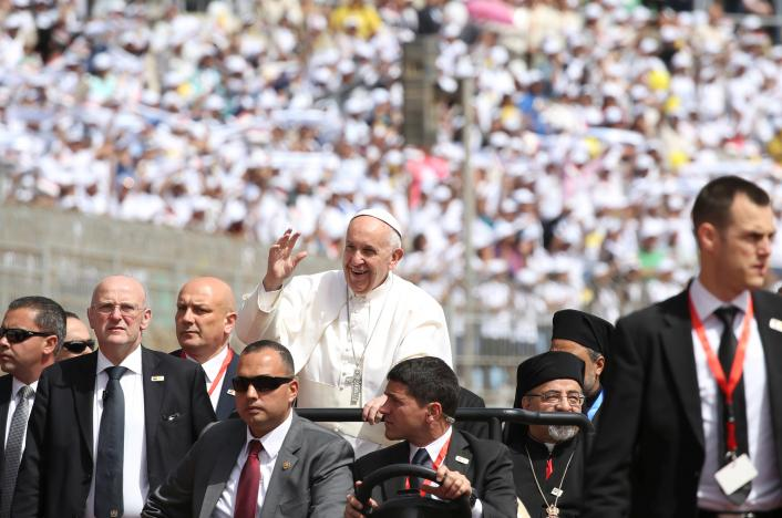 Pope Concludes Cairo Visit with Prayer to Wash Grief of Palm Sunday Attack Victims