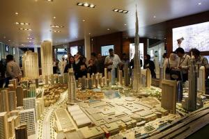 Visitors attend the opening day of the Cityscape exhibition (Reuters/Ahmed Jadallah)