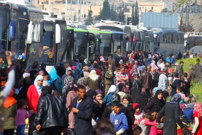 Blast Hits Syrian Bus Convoy near Aleppo