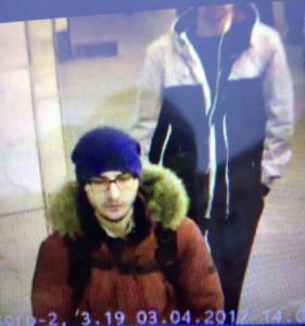 Handout photo of suspect Suspect Akbarzhon at St Petersburg's metro station
