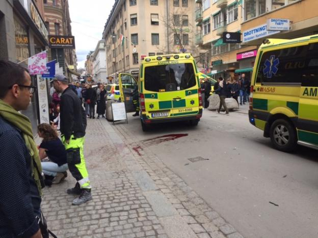 Stockholm: Terror Truck Driven into Crowd Kills Three, Wounds Eight