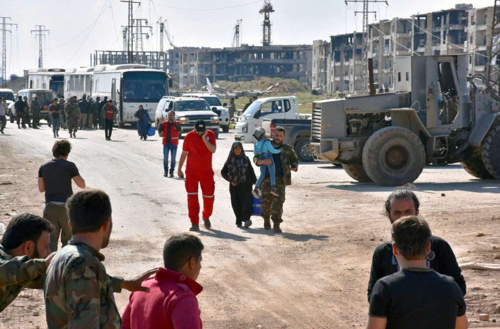Evacuations of Besieged Syria Towns Continue after 48-Hour Halt