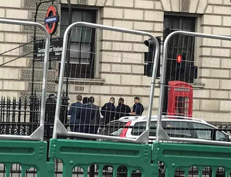UK Police Arrest Bearded Man in Westminster