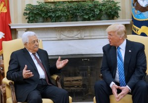Palestinian president Abbas visits Trump in White House