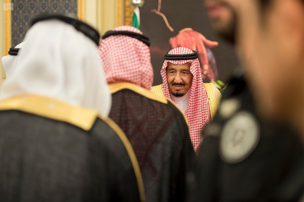 King Salman Receives Princes, Wellwishers on Occasion of Ramadan
