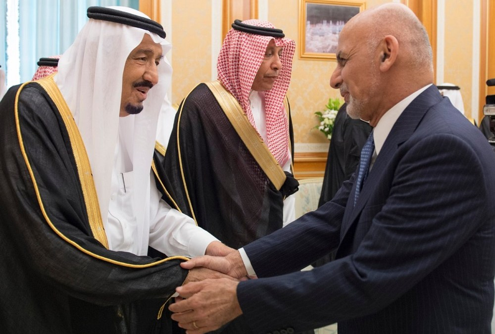King Salman Discusses Bilateral Issues with Afghan President