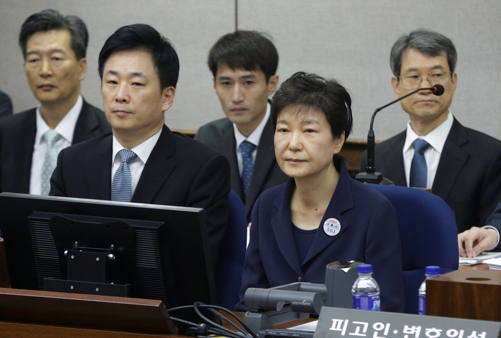 Ex-South Korean President Appears before Court, Denies Corruption Charges