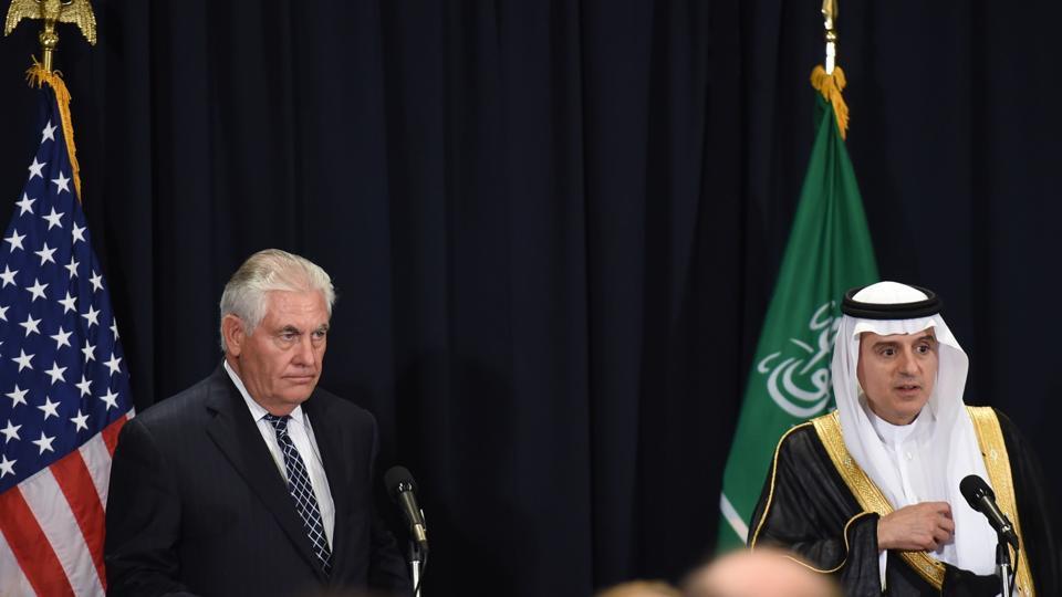 Tillerson Meets Jubeir: We Will Strengthen Efforts to Counter Iran in Yemen, Syria