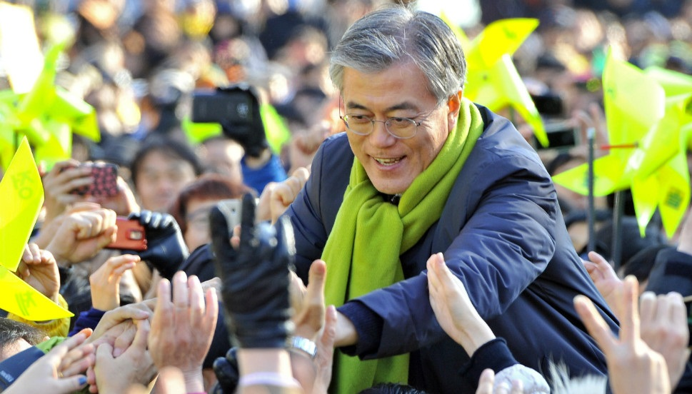 Favorite in South Korea's Presidential Race Seeks Reconciliation with Pyongyang