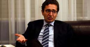 Tunisia's Investment Minister Fadhel Abdelkefi speaks with Reuters journalists in Tunis, Tunisia,