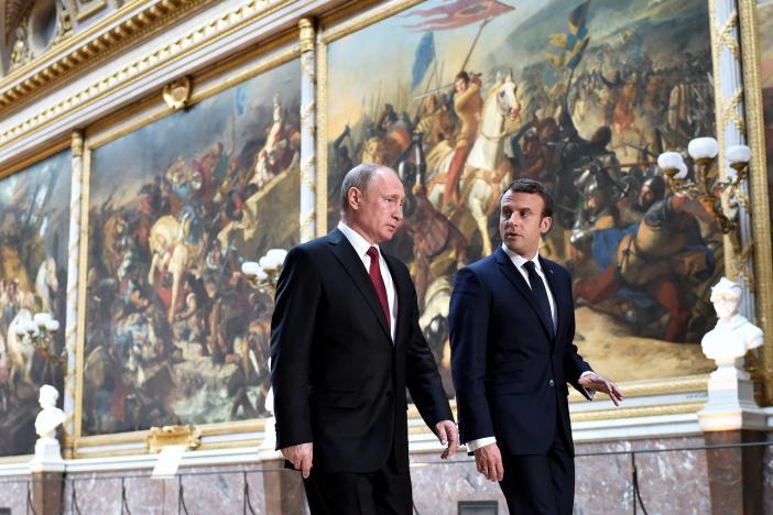 Tough Talks Challenge Putin-Macron Meeting