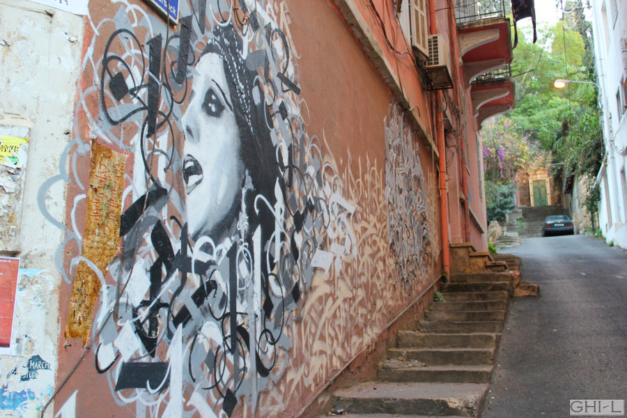 Fairouz Honored with Huge Graffiti in Beirut