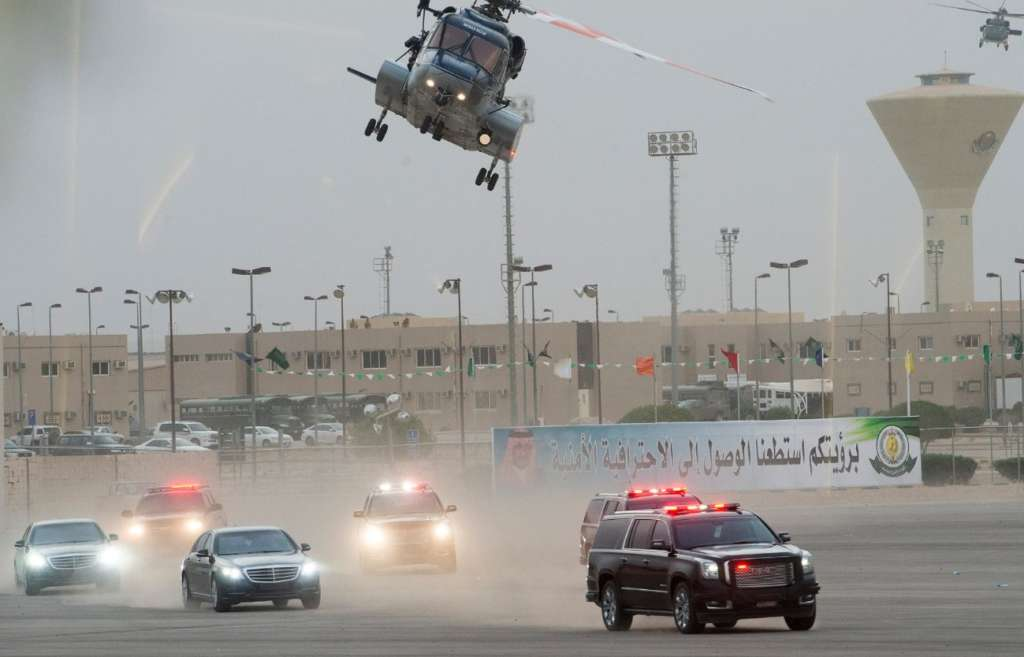 Saudi Crown Prince Attends Special Forces Military Display