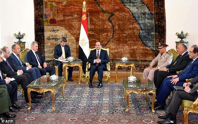 Egypt's Sisi Meets with Russian Defense, Foreign Ministers