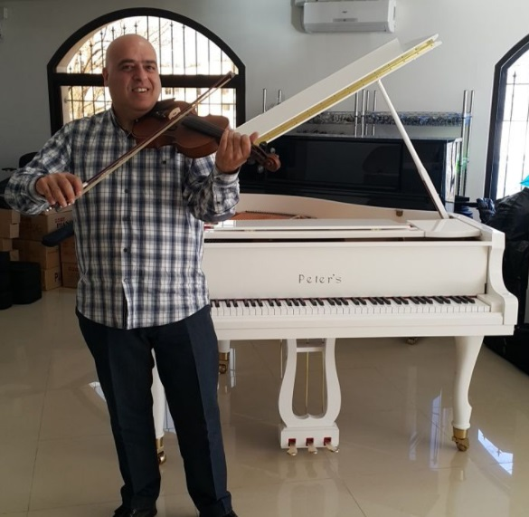 Lebanon's Peter Nehme Makes Musical Instruments, Plays 46