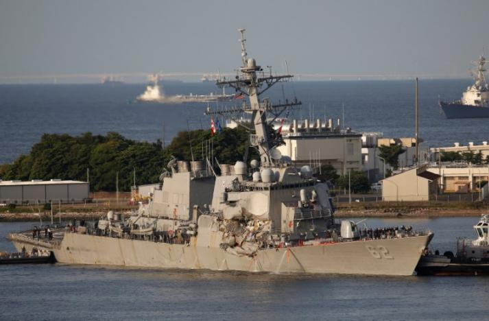 Seven Sailors Missing After US Navy Destroyer Collides with Merchant Ship Off Japan