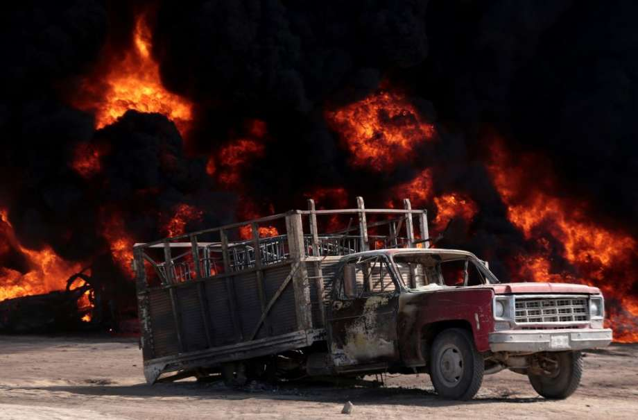 Mexican City for Fuel Thieves