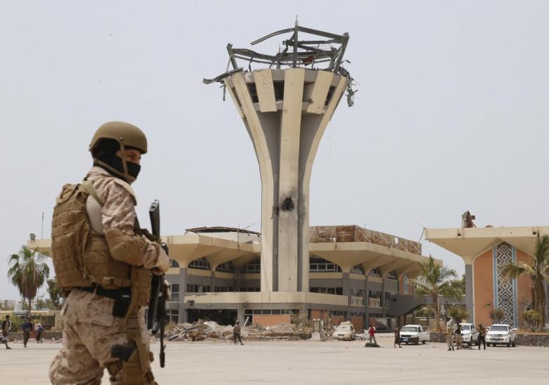 Arab Coalition Forces Restore Order at Aden International Airport after Clashes