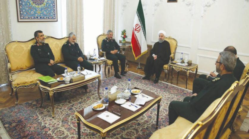 Rouhani Meets IRGC Senior Commanders to Diffuse Tension