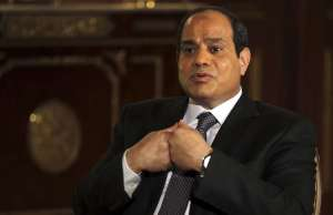 Egypt's President Abdel Fattah al-Sisi speaks during an interview with Reuters in Cairo.