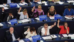 Members of the European Parliament take part in a voting session at the European Parliament in Strasbourg, France, on July 5, 2017.