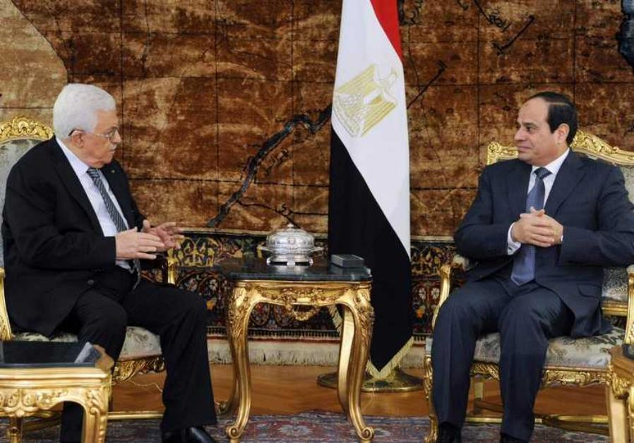 Sisi Stresses before Palestinian President Need to End Divisions, Revive the Peace Process