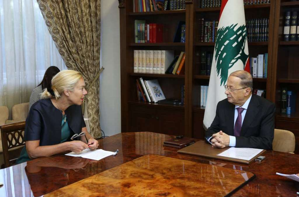 Aoun: Lebanon is Committed to Implementation of Resolution 1701