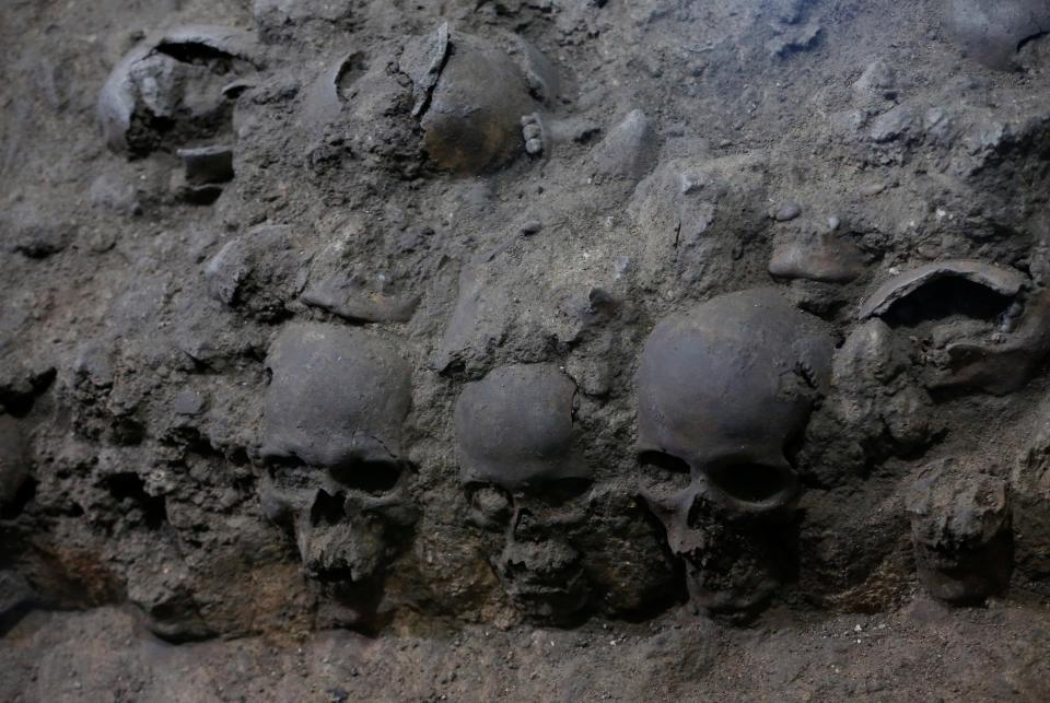 Unearthed Tower of Human Skulls in Heart of Mexico City