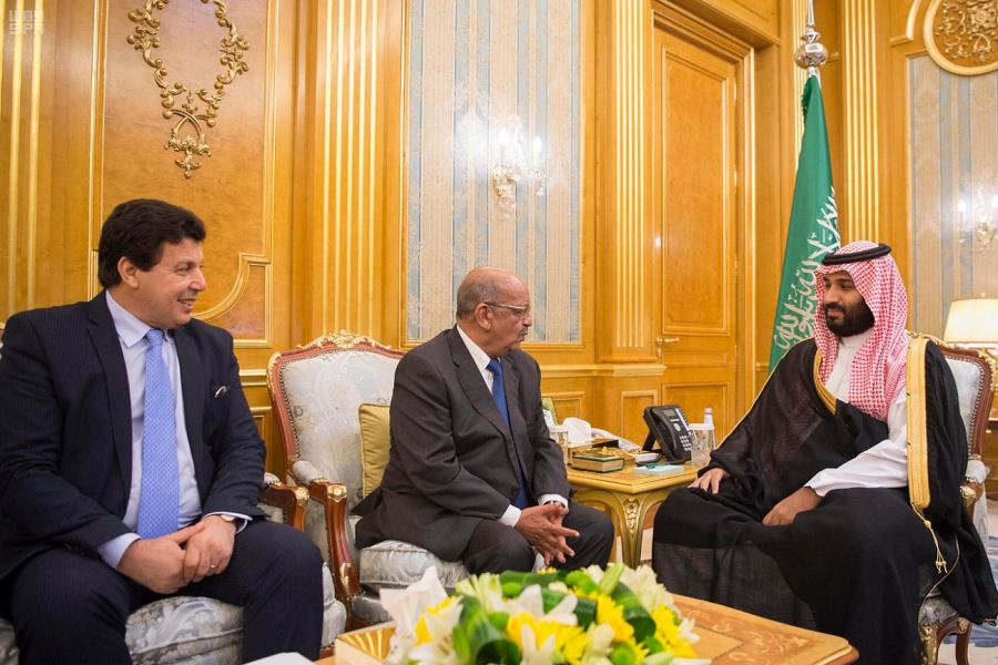 Deputy Custodian of the Two Holy Mosques Meets Algerian Minister of Foreign Affairs
