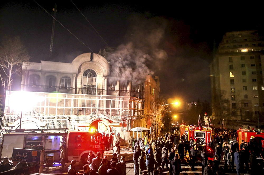 Saudi Arabia Accuses Iran of Stalling Inspection of its Embassy after 2016 Attack