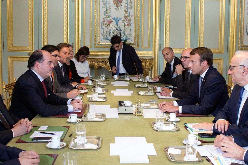 French President Meets Venezuela Opposition Leaders