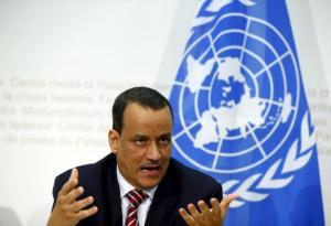 UN Secretary-General Special Envoy Ismail Ould Cheikh Ahmed speaks to media after the Yemen peace talks in Switzerland in Bern