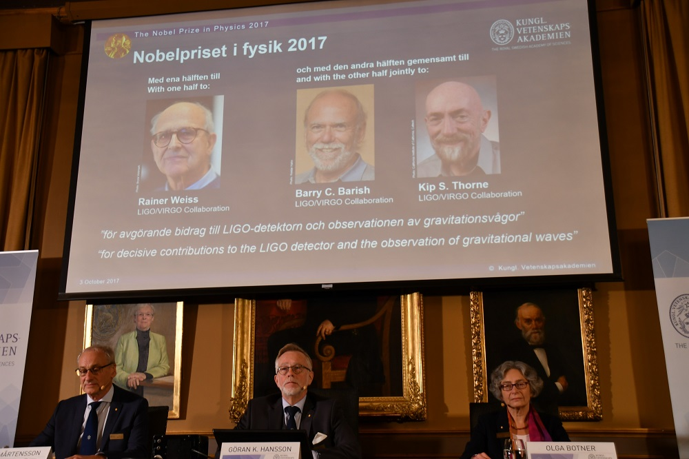 Nobel Physics Prize Awarded to 3 Scientists for Proving Einstein's 'Gravitational Waves' Theory